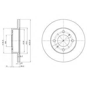 Тормозной диск DELPHI BG2809