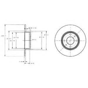 Тормозной диск DELPHI BG2322