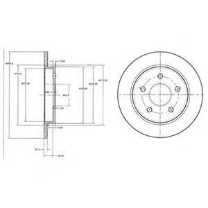 Тормозной диск DELPHI BG2332