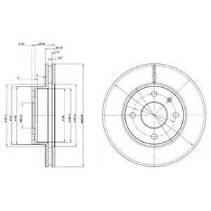 Тормозной диск DELPHI BG2339