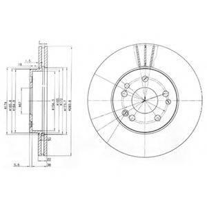 Тормозной диск DELPHI BG2345