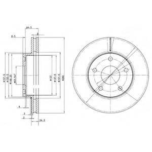 Тормозной диск DELPHI BG2346