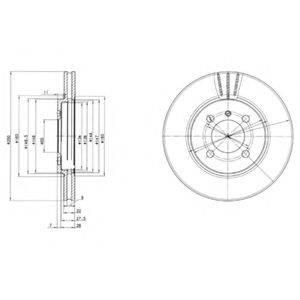 Тормозной диск DELPHI BG2347