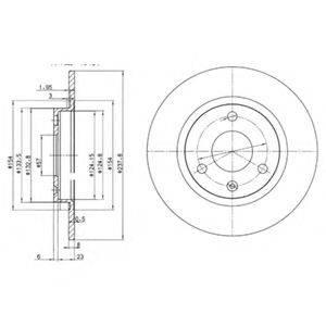 Тормозной диск DELPHI BG2355