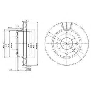 Тормозной диск DELPHI BG2367