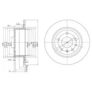 Тормозной диск DELPHI BG2381