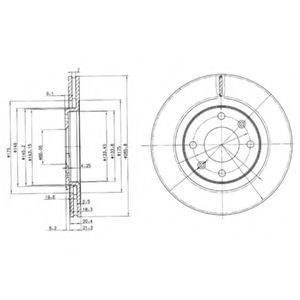 Тормозной диск DELPHI BG2387