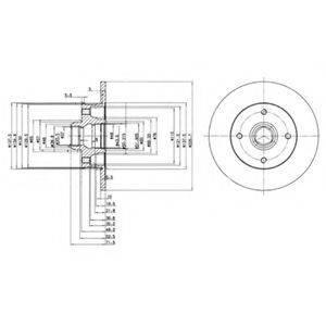 Тормозной диск DELPHI BG2389