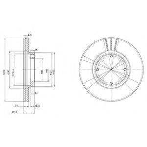 Тормозной диск DELPHI BG2394