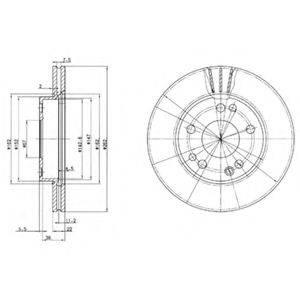 Тормозной диск DELPHI BG2397