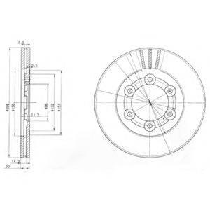 Тормозной диск DELPHI BG2416