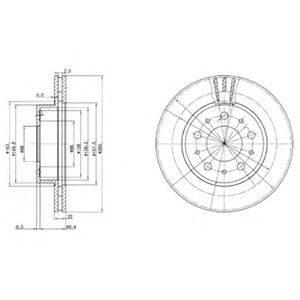 Тормозной диск DELPHI BG2425