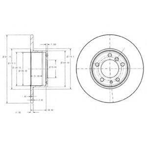 Тормозной диск DELPHI BG2430