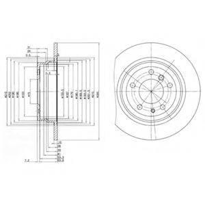 Тормозной диск DELPHI BG2431