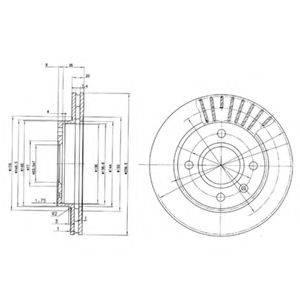 Тормозной диск DELPHI BG2440