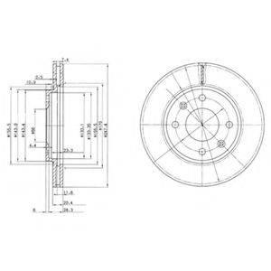 Тормозной диск DELPHI BG2444