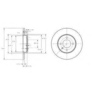 Тормозной диск DELPHI BG2454