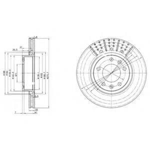 Тормозной диск DELPHI BG2460