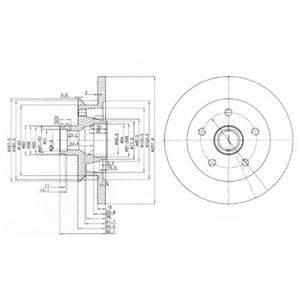 Тормозной диск DELPHI BG2468