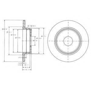 Тормозной диск DELPHI BG2510