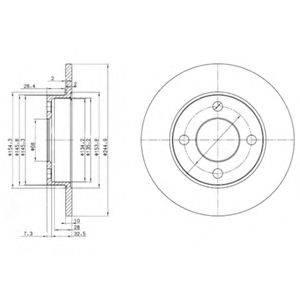 Тормозной диск DELPHI BG2517