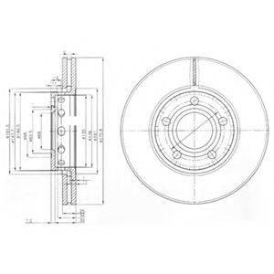 Тормозной диск DELPHI BG2518