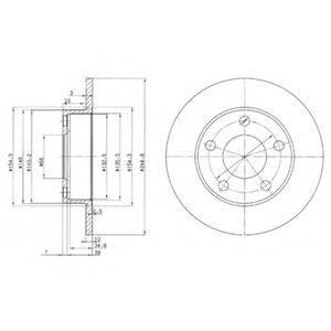 Тормозной диск DELPHI BG2520
