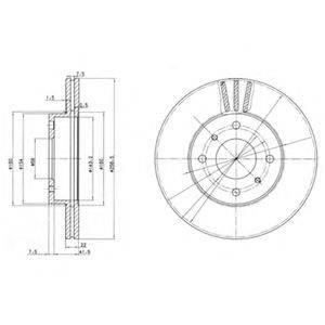 Тормозной диск DELPHI BG2567
