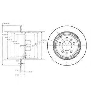 Тормозной диск DELPHI BG2573