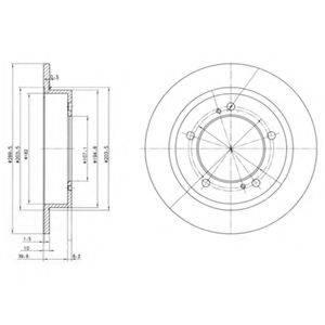 Тормозной диск DELPHI BG2584
