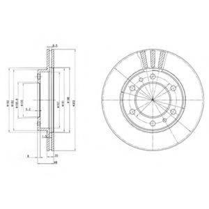 Тормозной диск DELPHI BG2591