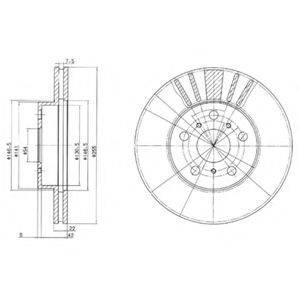 Тормозной диск DELPHI BG2596