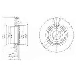 Тормозной диск DELPHI BG2625