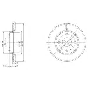 Тормозной диск DELPHI BG2629