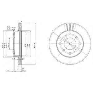 Тормозной диск DELPHI BG2632