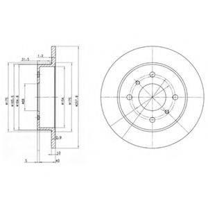 Тормозной диск DELPHI BG2633