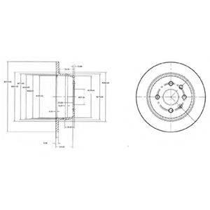 Тормозной диск DELPHI BG2635