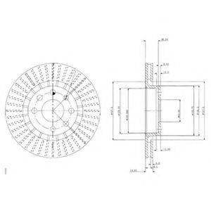 Тормозной диск DELPHI BG2636