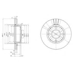 Тормозной диск DELPHI BG2668