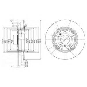 Тормозной диск DELPHI BG2671