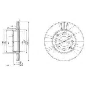 Тормозной диск DELPHI BG2673