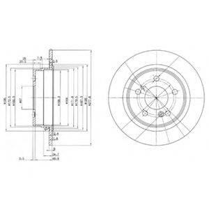 Тормозной диск DELPHI BG2676