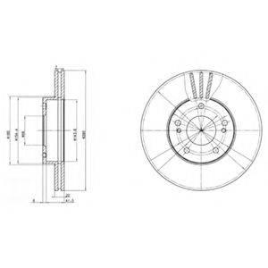 Тормозной диск DELPHI BG2682