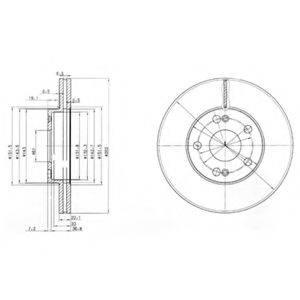 Тормозной диск DELPHI BG2695