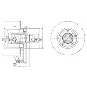 Тормозной диск DELPHI BG2714