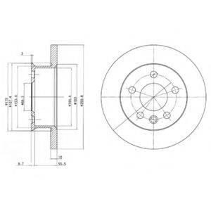 Тормозной диск DELPHI BG2716
