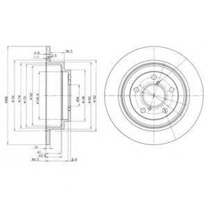 Тормозной диск DELPHI BG2826