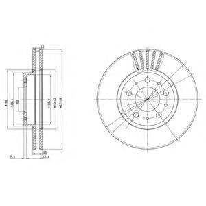 Тормозной диск DELPHI BG2841