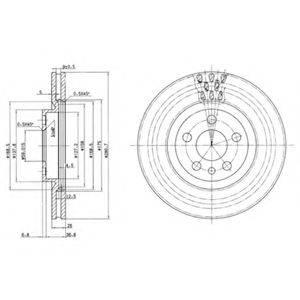 Тормозной диск DELPHI BG2844