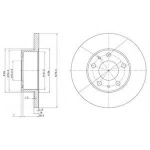 Тормозной диск DELPHI BG2845